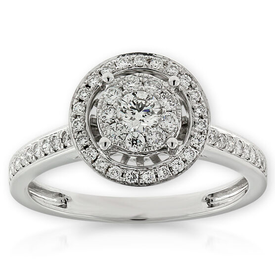 Halo Diamond Ring 14K