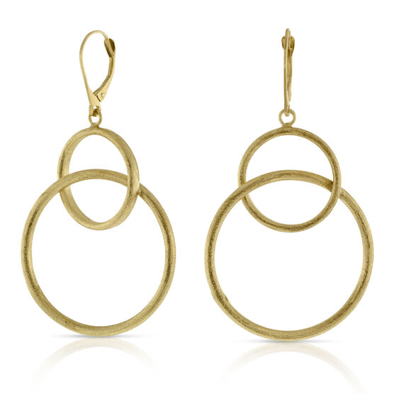Toscano Double Ring Earrings 14K