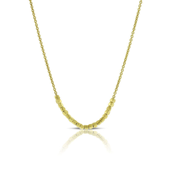Cubic Bead Necklace 14K