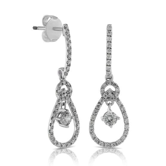 Ben Bridge Signature Diamond Earrings in 14K