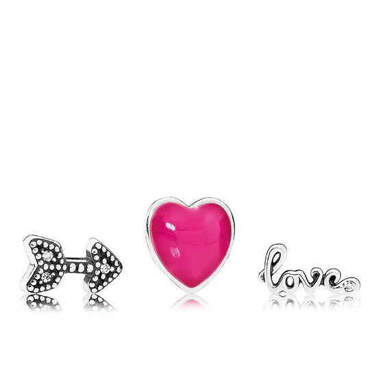 PANDORA Love Feelings Petite Enamel & CZ Charms