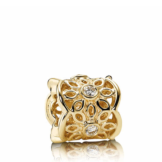 PANDORA Golden Radiance Charm  14K  RETIRED