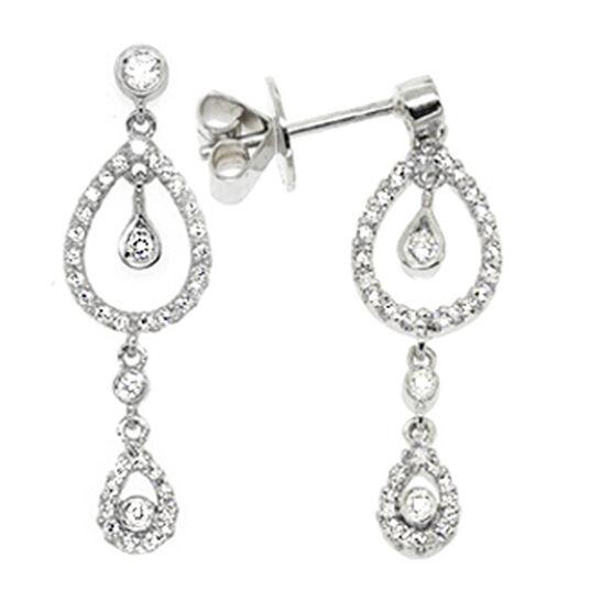 "Dangle Diamond Earrings 14K ""SPECIAL OFFER'"