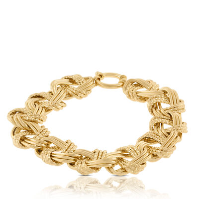 Toscano Collection Triple Links Bracelet 14K