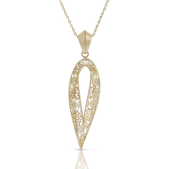 Toscano Collection Barocco Open Twist Pendant 18K