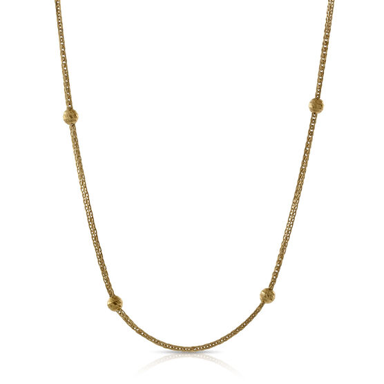 Diamond Cut Station Necklace 14K