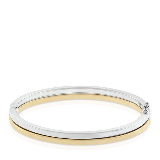 Toscano Collection Two-Tone Bangle Bracelet 18K