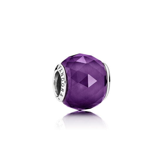PANDORA Purple Geometric Facets Charm