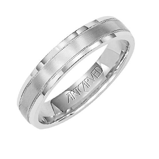 Ladies ArtCarved Band, 4mm, 14K
