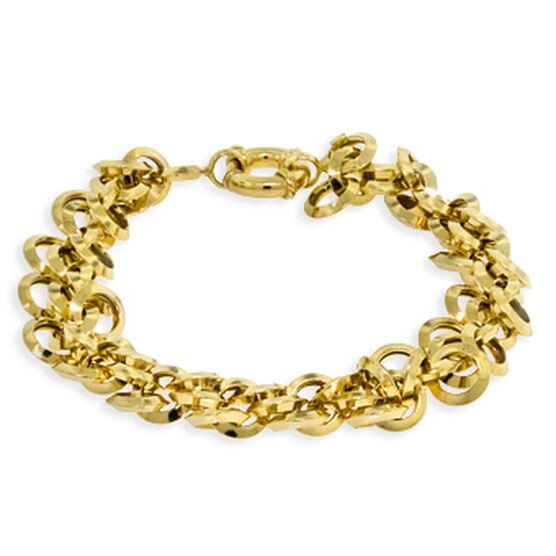 Toscano Collection Circle Link Bracelet 18K