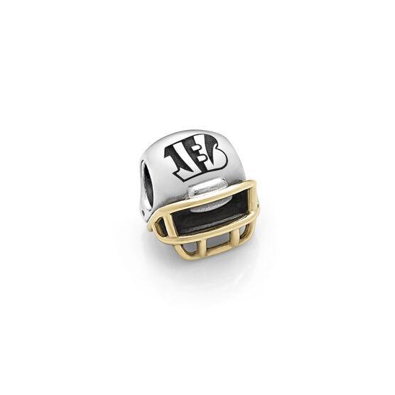 PANDORA Cincinnati Bengals NFL Helmet, Silver & 14K