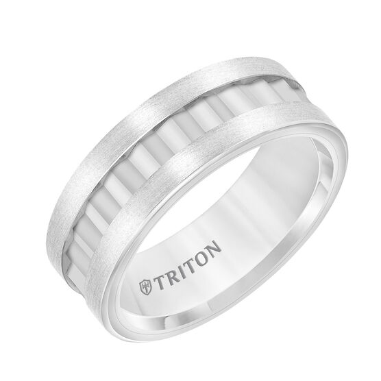 TRITON White Tungsten Band