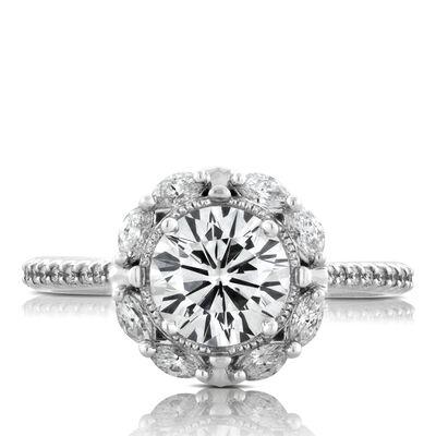 Signature Forevermark Diamond Engagement Ring 18K, 1.54 Center