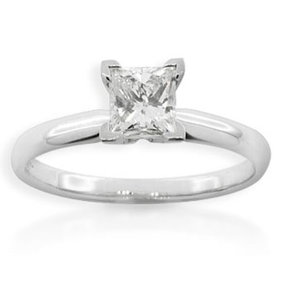 Princess Cut Diamond Solitaire Ring, 14K, 1ct.