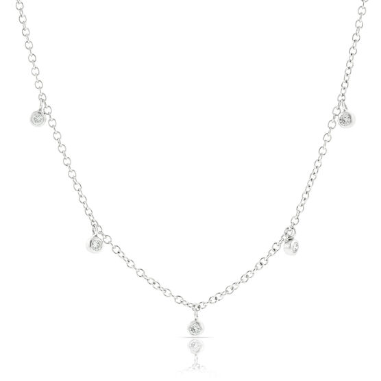 Five Diamond Necklace 14K