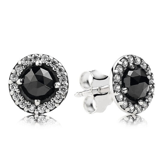PANDORA Glamorous Legacy Earrings, Black Spinel