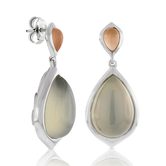 Moonstone Teardrop Earrings 14K