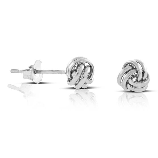 Small Knot Earrings 14K