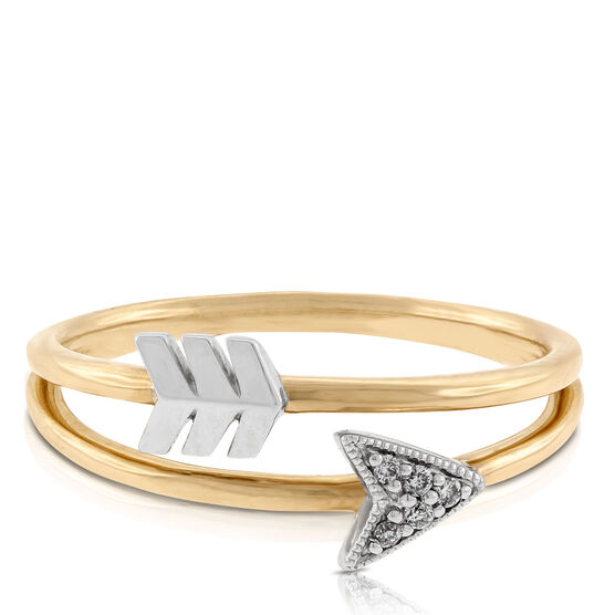 arrow diamond ring 14k ben bridge jeweler