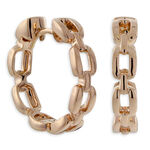 Link Hoop Earrings 14K Rose