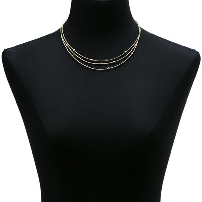 Toscano Station Necklace 14K