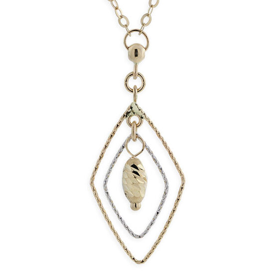 Dangle Marquise Pendant 14K