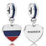 PANDORA Russia Heart Flag Charm