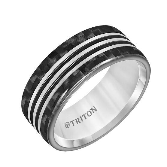 TRITON Black & White Tungsten Band