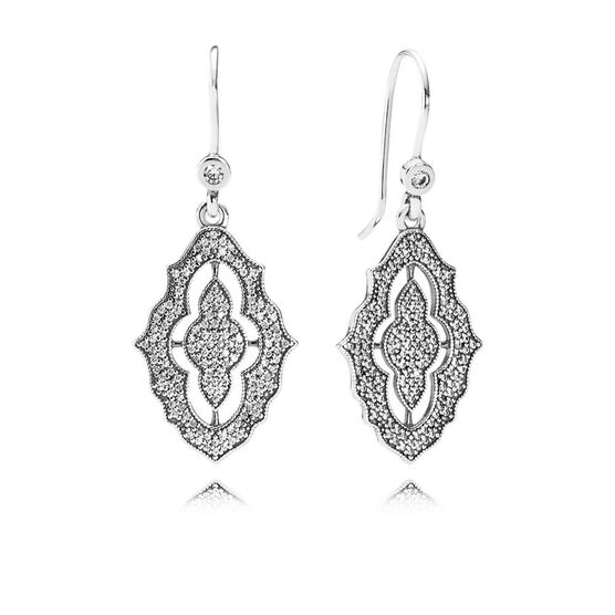 PANDORA Sparkling Lace CZ Earrings