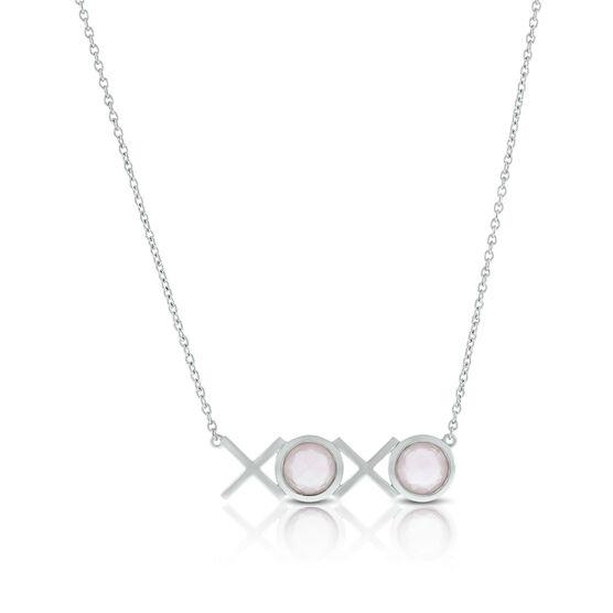 Lisa Bridge Rose Quartz XOXO Necklace