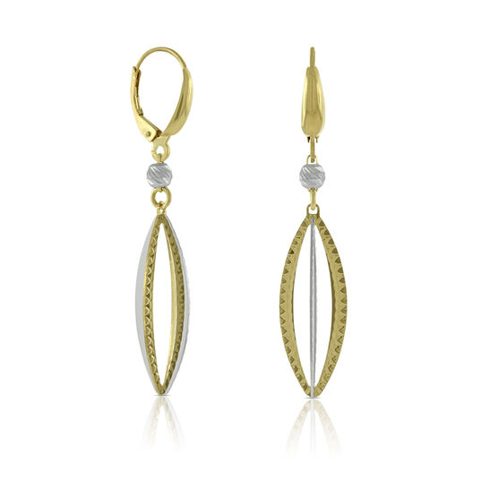 Toscano Marquise Dangle Earring, 14K