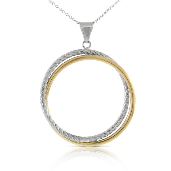Twisted Hoop Pendant 14K