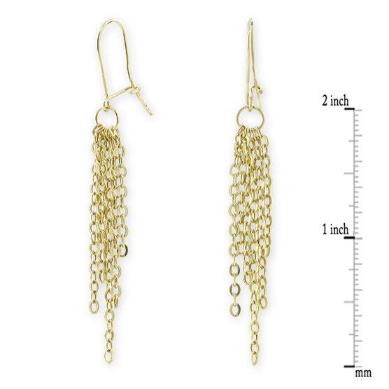 Dangle Chain Earrings 14K