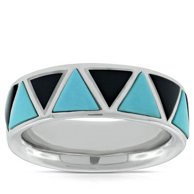 Lisa Bridge Turquoise &  Black Onyx Ring