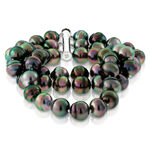 Three-Strand Tahitian Cultured Pearl Bracelet with Sterling Silver Clasp