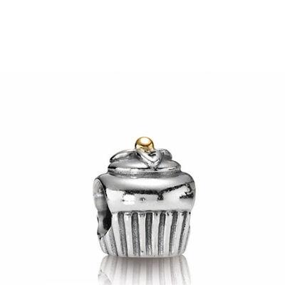 PANDORA Cupcake Charm, Silver & 14K