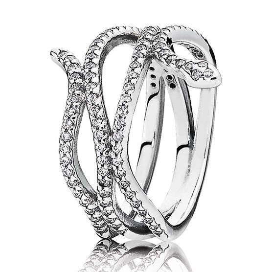 PANDORA SWIRLING SNAKE RING