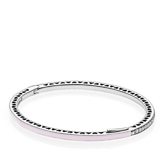 Radiant Hearts of PANDORA,  Pink Enamel & CZ Bracelet