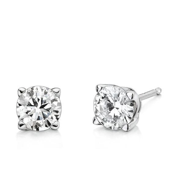 Forevermark Diamond Solitaire Earrings 18K, 1 ctw.