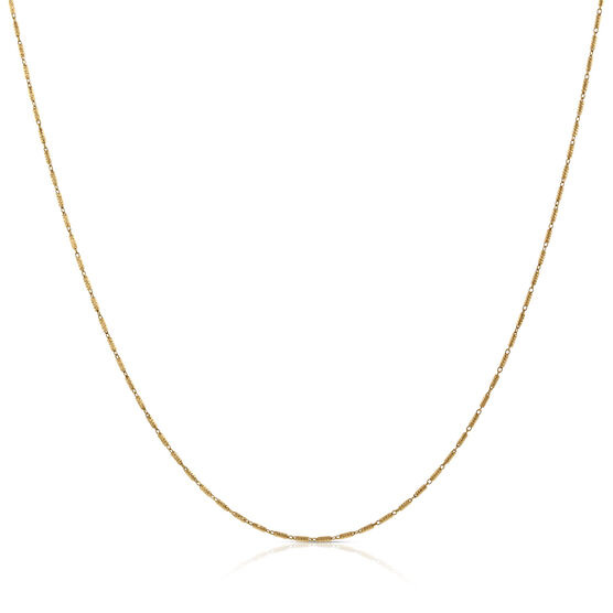 Tubetto Diamond Cut Chain 14K, 18""