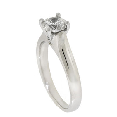Ben Bridge Signature Diamond™ Solitaire Ring in Platinum, 3/4 ct.