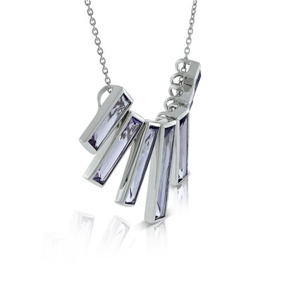 Lisa Bridge Amethyst Bar Necklace