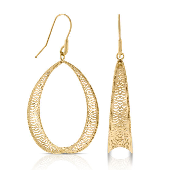 Toscano Collection Open Drop Earrings 14K