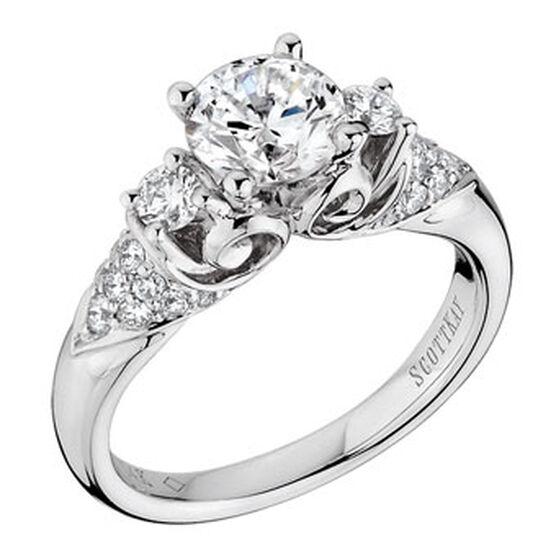 scott kay noblesse diamond semi mount ring 14k - Scott Kay Wedding Rings