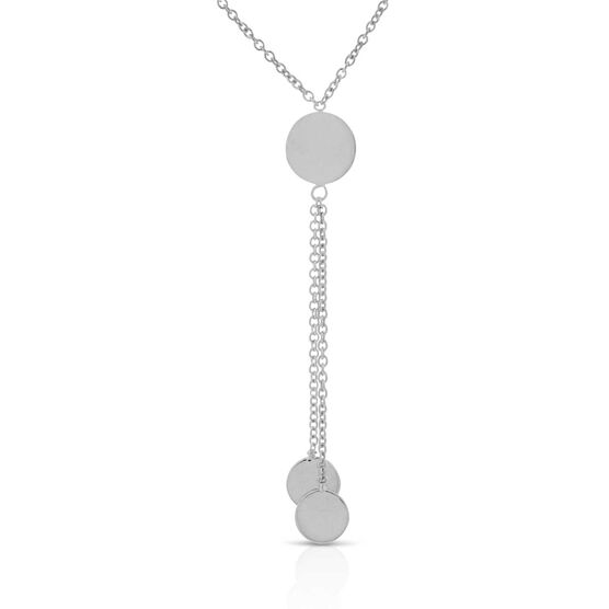 Circle Lariat Necklace 14K