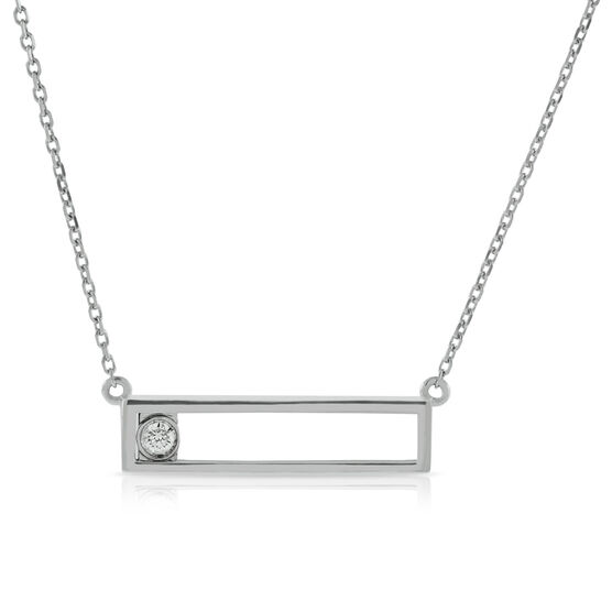 Sliding Diamond Necklace 14K