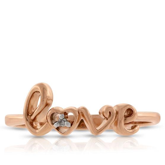 Diamond LOVE Ring in 14K