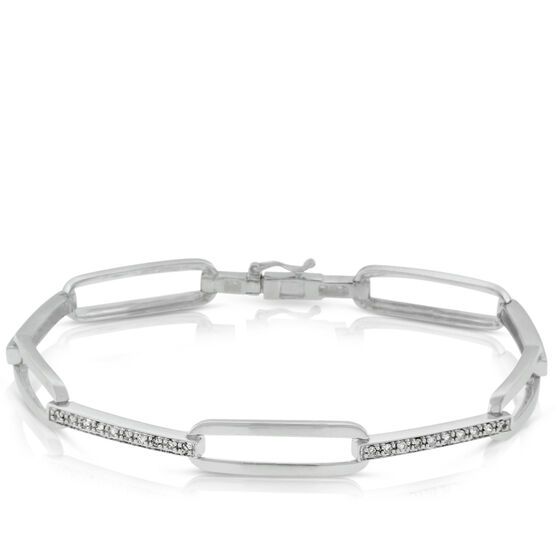 Diamond Bracelet in Sterling Silver