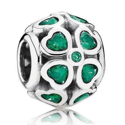 PANDORA Green Lucky Clover Charm