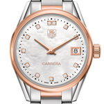 TAG Heuer Carrera Diamond Rose Two-Tone Watch, 32mm